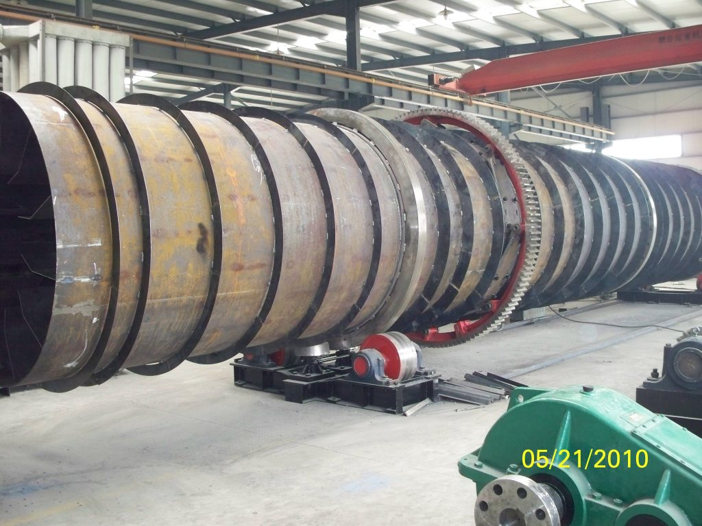 rotary dryer in processing